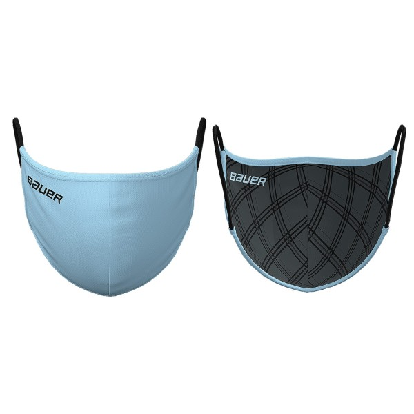 Bauer Mund und Nasenschutz Reversible Sky Blue/Plaid