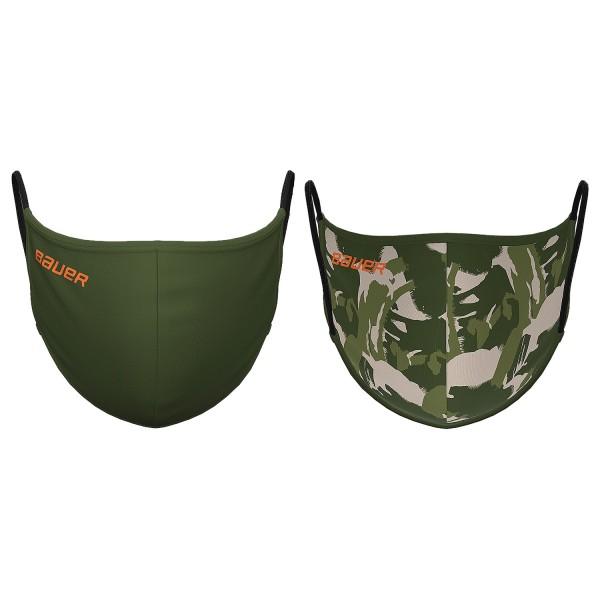 Bauer Mund und Nasenschutz Reversible Grün/Camouflage