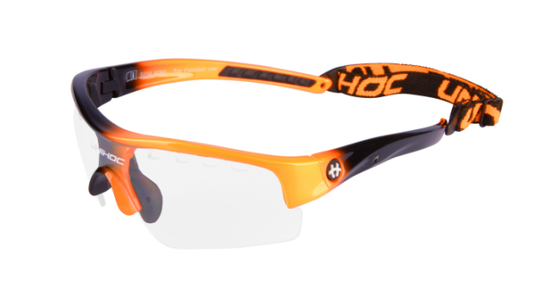 Unihoc Brille Victory - orange/schwarz Kids
