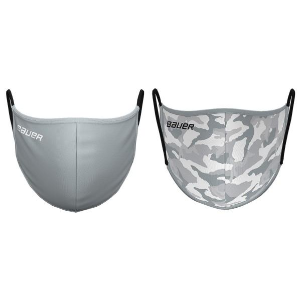 Bauer Mund und Nasenschutz Reversible Grau/Camouflage